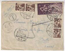 1957 Alexandria Egypt, Airmail to Switzerland, Postage Due