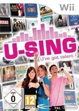 Nintendo Wii Jeu-U-Sing: U 've got Talent! Seulement logiciel avec neuf dans sa boîte