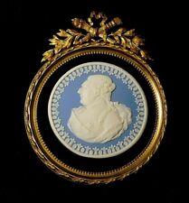 Rare antique 18TH/19TH C Wedgwood Jasperware Portrait Plaque Medallion Louis XVI