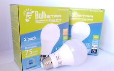 Lot 4 Pack Dimmable LED A21 BulbStar Light Bulbs Soft White 2700k 12w = 75w NEW!