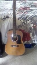 Washburn Acoustic Guitar, G-20S, right hand, 6 string, with case.