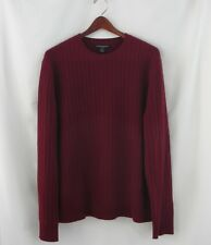 BANANA REPUBLIC 100% Cashmere Ribbed Crew Neck Sweater Size Large L