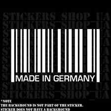 Made in Germany Sticker Decal Vinyl Mercedes Audi Barcode die cut truck car