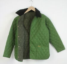 BARBOUR SHAPED LIDDESDALE Women EU 40 or ~M Quilted Snap Buttons Jacket 23012_JS