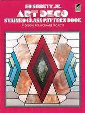 Art Deco stained glass pattern book, 91 Designs, Panels, Suncatchers