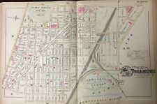 1895 EAST FALLS PHILADELPHIA UNIVERSITY PA QUEEN LANE RESERVOIR ATLAS MAP