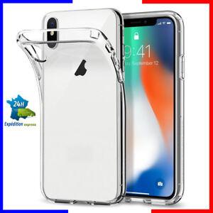 Coque tel case housse étui TPU silicone transparent apple iphone 10/10g/X/XS