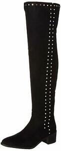 Fergalicious Women's Harlin Over The Over The Knee Boot, Black, Size 5.0