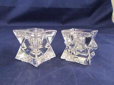Crystal Diamond Cut Candleholders - Set of 2 - DePlomb – 24% Lead Crystal