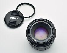 Minolta Maxxum Dynax AF 50mm f1.7 Prime Lens Caps & Filter Sony A (#3452)