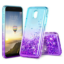 Bling Liquid Glitter Case Cover For Samsung Galaxy J3 V 2018/Orbit/Star/Express
