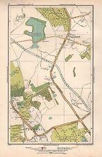 1933 London Map-Elstree,Stanmore,Alde nham Reservoir