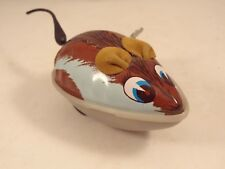 Ancien jouet souris mécanique tôle plastique années 60