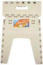 WHITE FOLDING STEP STOOL STURDY PLASTIC SEAT KIDS EASY FOLD AWAY KITCHEN 508
