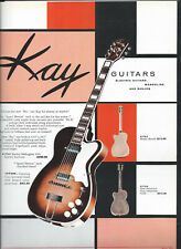Mid 1950's KAY GUITAR CATALOG PAGE AD