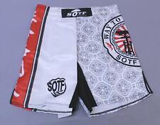 Sotf Men's Japanese Style Print Battle Mma Fighting Shorts Bf5 White Size Xl