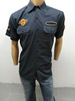 Camicia HARD ROCK UOMO Taglia size M shirt man chemise maglia polo cotone p 5245