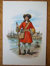 STADDEN MILITARY POSTCARD - PTE SENTINEL PRINCE GEORGE OF DENMARKS MARITIME ROF