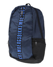 BIKKEMBERGS Backpack Padded Panels Adjustable Straps Logo Two Way Zip