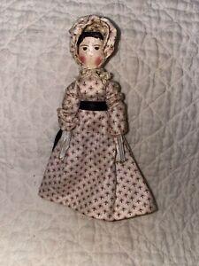 Antique Dollhouse Grodner Tal Peg Wooden Doll