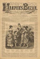 Victorian, Ladies Fashions, Girls Party Dresses, Vintage, 1879 Antique, Print,