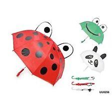 Drizzles Children's 3d Dome Animal Kids Umbrella Panda White Rainy Day