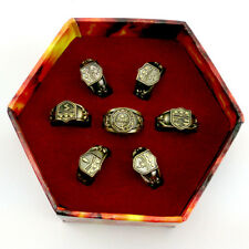 Anime Katekyo Hitman Reborn Vongola 7pcs Rings Set + Original Box Cosplay