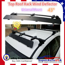 "Universally Mount Fit Rooftop 43"" CrossBar Wind Fairing Air Deflector Kit"