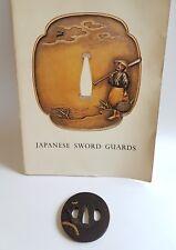 Antique Iron Tsuba Edo Era Japanese Sword Guard Samurai Katana Original Rare 02