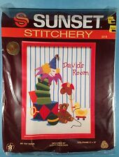 Sunset Stitchery Kit 2218 MY TOY ROOM Crewel Embroidery Jack in Box Personalize