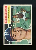 1956 Topps BB Card #131 Bob Roselli Milwaukee Braves NR-MINT