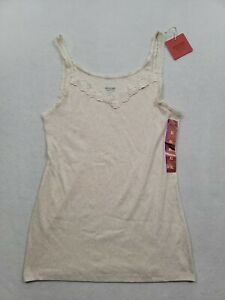 Mossimo Supply Co. Beige Lace Trim V-Neck Tank Top Womens Size XL NWT