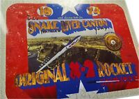 METAL & PAINT shavings Evel Knievel's original X-2 ROCKET SKYCYCLE Snake River