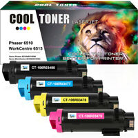 Compatible for 4 Pack Color Toner Set Xerox Workcentre 6515 Phaser 6510 dn