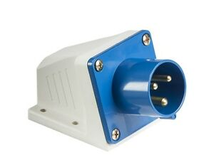 240V 16Amp Appliance Inlet - IP44 240 Volt Blue
