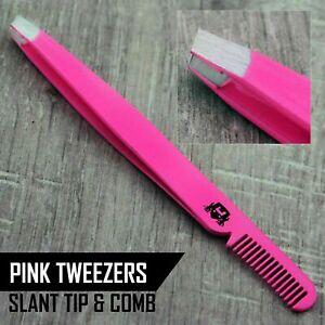 Professional Eyebrow Tweezers Slant Tip | Precision Hair Tweezer for Men & Women