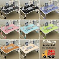 Laptop Stand Folding Computer Desk Table Adjustable Notebook Lap Tray For Bed