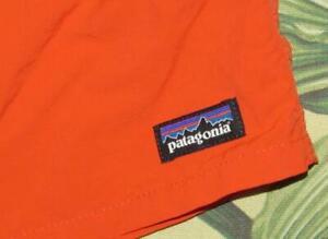 "PATAGONIA Boys Orange 8"" Lined Baggies Shorts XXL"