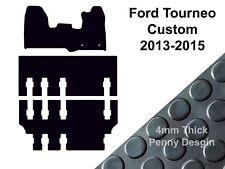 Ford Tourneo Custom Van (2013 - 2015) Fully Tailored Black Rubber Van Floor Mat