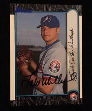 JAKE WESTBROOK 1999 BOWMAN ROOKIE RC Autograph Signed AUTO Baseball Card 112 EXP