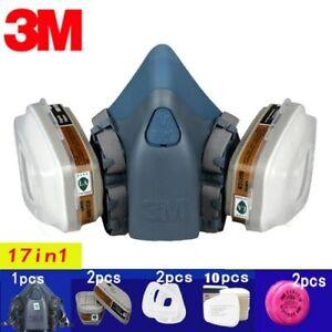3M 7502 Masque chimique respirateur de protection industriel peinture Bricolage