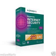 Kaspersky Internet Security 2014 -  2 Postes - 1 An- France Officiel Neuf