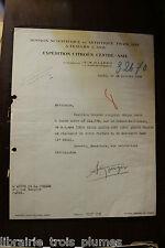 ✒ L.S. André CITROEN André GOERGER Croisière JAUNE Expédition Asie 19 oct 1933