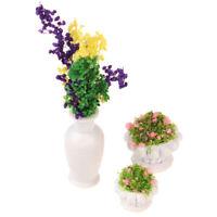 1:12 Dollhouse Miniature Green Plant In Pot Model Garden Decor Accessories