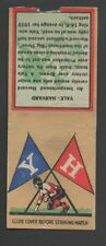 1935 Diamond Football Matchcover College Rivals #11 Yale Harvard-Tan Background