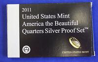 2011-s SILVER. U.S. Mint made America the Beautiful  QUARTERS  proof Set