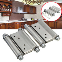 "2Pcs 3"" Double Action Spring Hinge Saloon Cafe Door Swing Door Hinges w/ Screws"