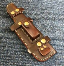 26CM Well Stitched Multi Carry Knife Bushcraft Tracker Brown Leather Sheath