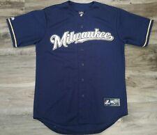Vintage Milwaukee Brewers Majestic MLB Baseball Jersey Mens Size Medium Blank