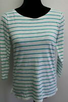 NWT J. Crew Women's Top Striped Long Sleeve Shirt size XS 100% Cotton
